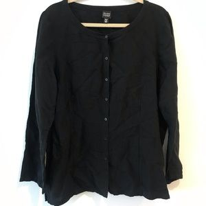 Eileen Fisher Linen Button Down Blouse XL